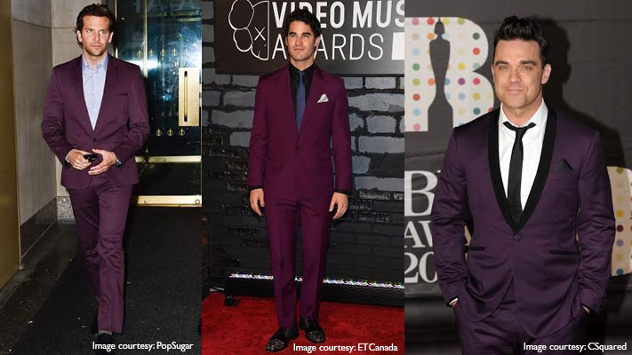 how to wear purple suit for after work party