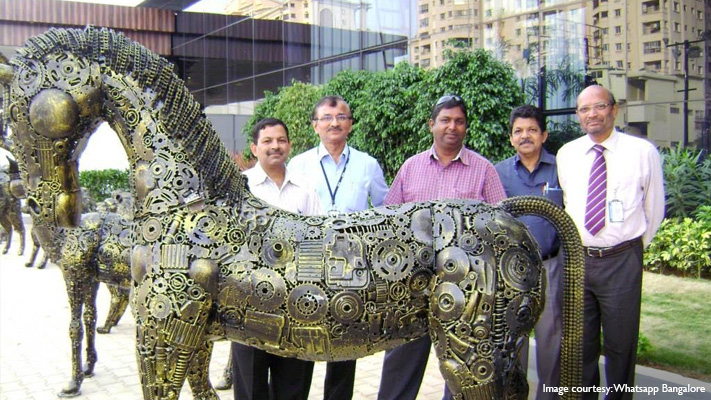 ilyas ahmed stunning horse sculptor from metal scrap