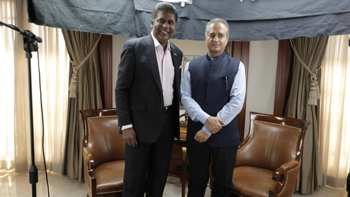 in pursuit of excellence vijay amritraj with dr devi prasad shetty
