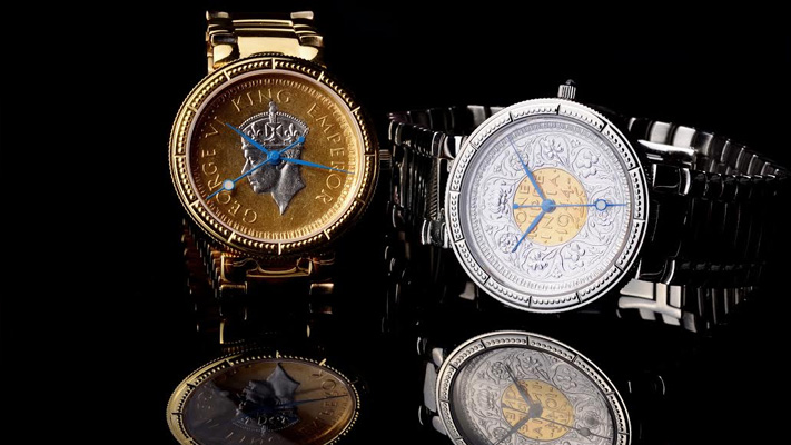 Jaipur Watch company Antique coin Watches