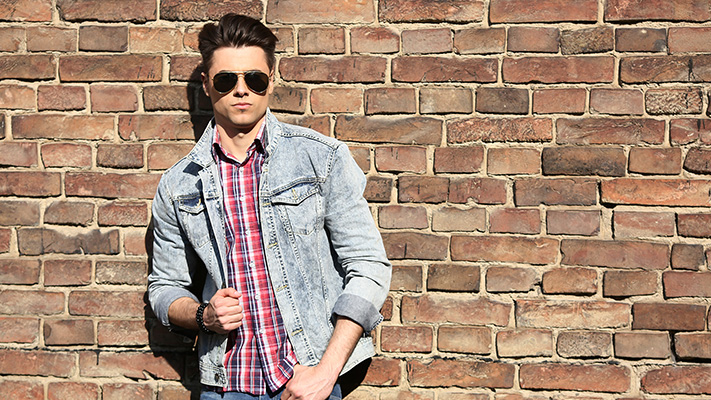 jeans paired with checked shirt casual look