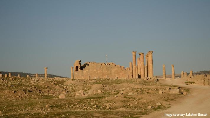 jerash ancient roman city in jordan
