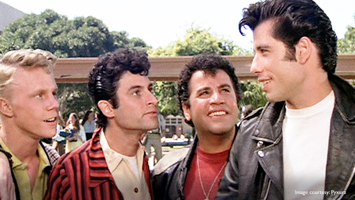 john travolta fashionable look in grease is worth taking style tips from