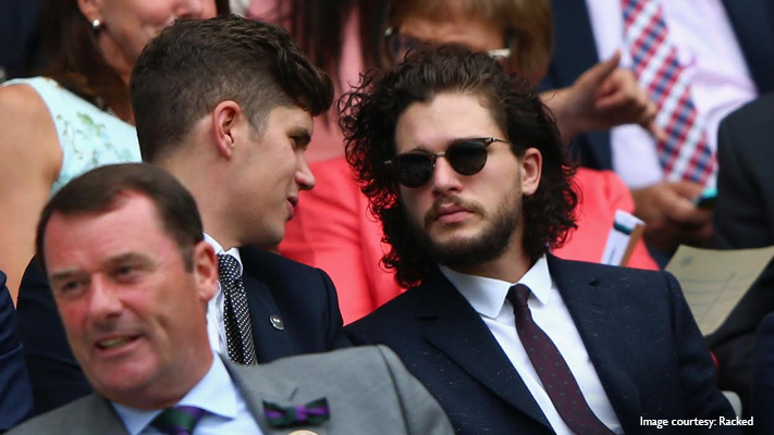 kit harington perfect choice of attire with classic navy suit