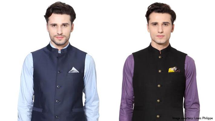 layering nehru jacket with mandarin collar shirt