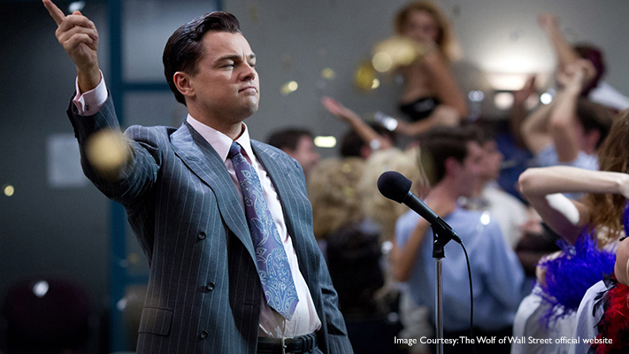 leonardo di caprio starrer wolf of wall street truly exemplifies power dressing