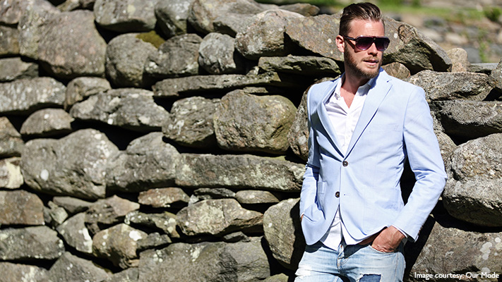 linen blazer for dapper look