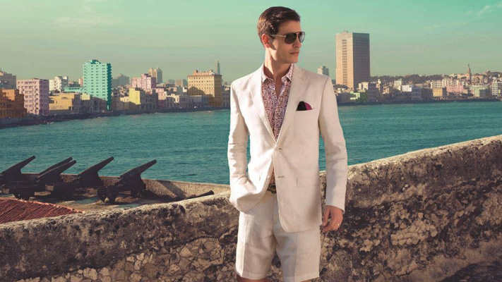 linen suit with shorts fashion for men
