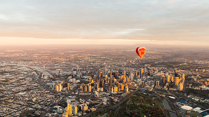 melbourne australia hot air ballooning places in the world