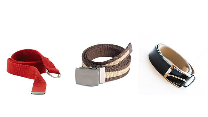 mens belts and different types of buckles