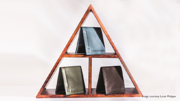 mens colourful wallets with metallic finish