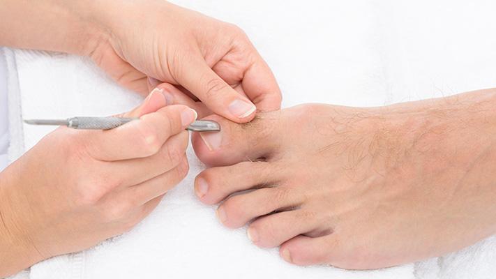 mens pedicure ensures trimmed nails cuticles