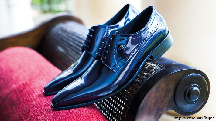 metallic formal shoes for men
