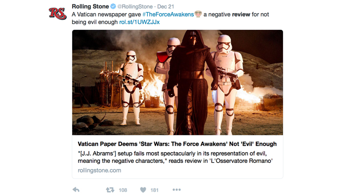 negative review of latest star wars