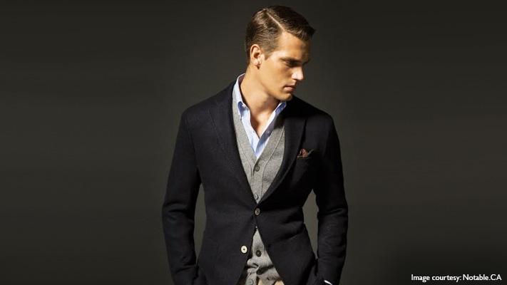pair cardigan with suit