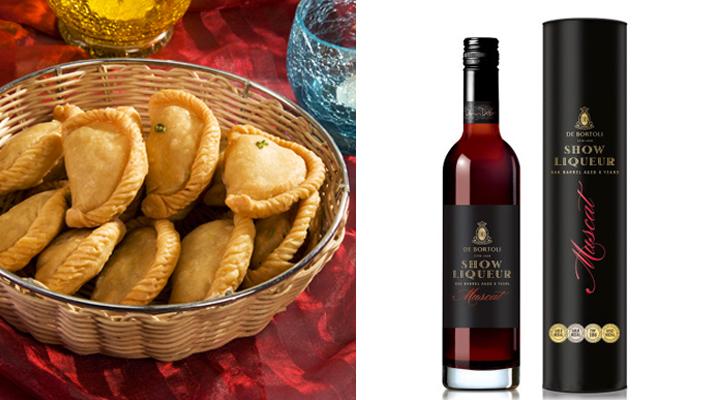 Pair wines with gujiya australian liqueur muscat