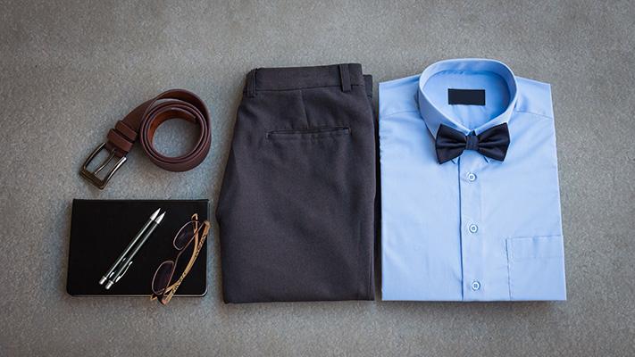 pastel blue formal shirt