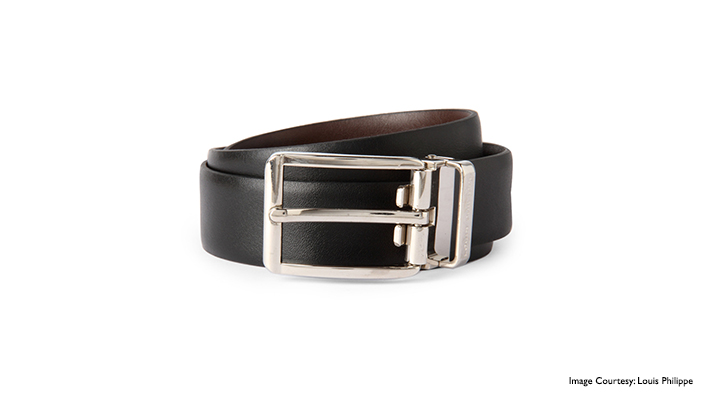 plain black formal belt