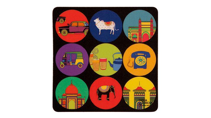 Polka Masti Rubber coasters popular Bar Accessories