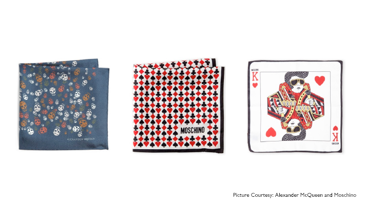 quirky types of pocket squares