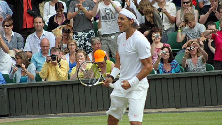 Rafael Nadal at Wimbeldon