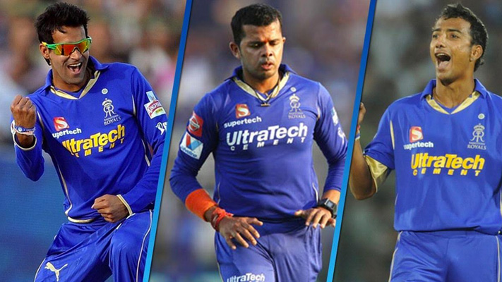 rajasthan royal players booked for spot fixing