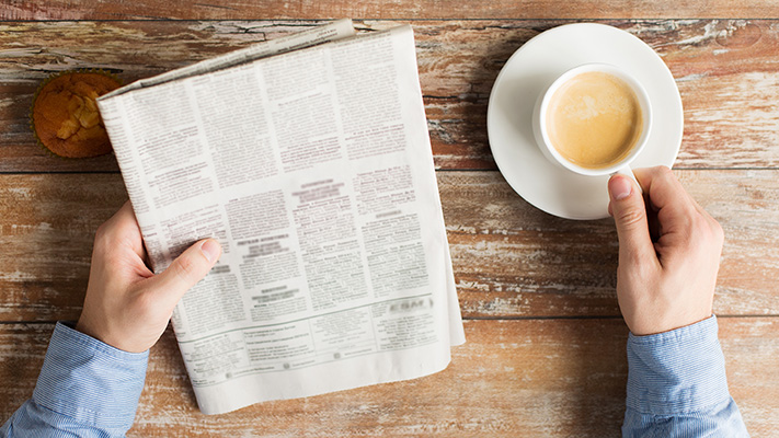 reading newspaper develop healthy outlook