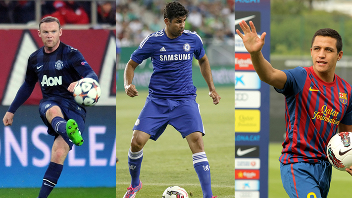 Rooney costa Sanchez players to look out for in epl