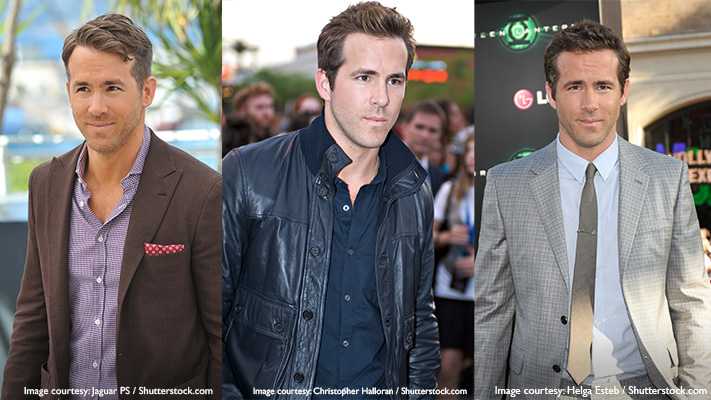 ryan reynolds classic suit and sharp style
