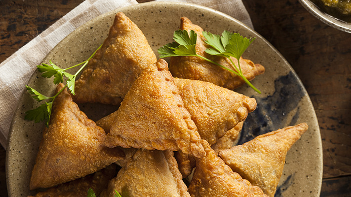 samosas perfect snack for the rainy season