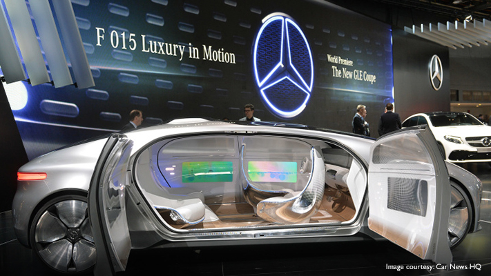 self driving car mercedes benz luxury in motion