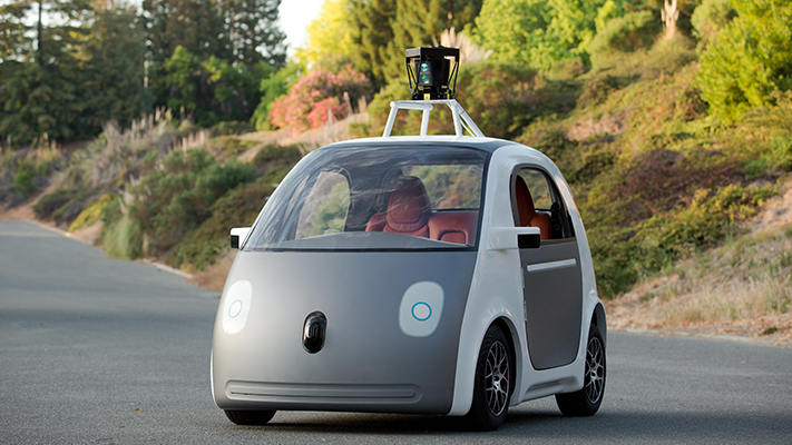 self driving google car with amazing technology