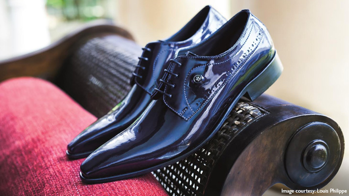 shinny shoes to pair with sheen fabric