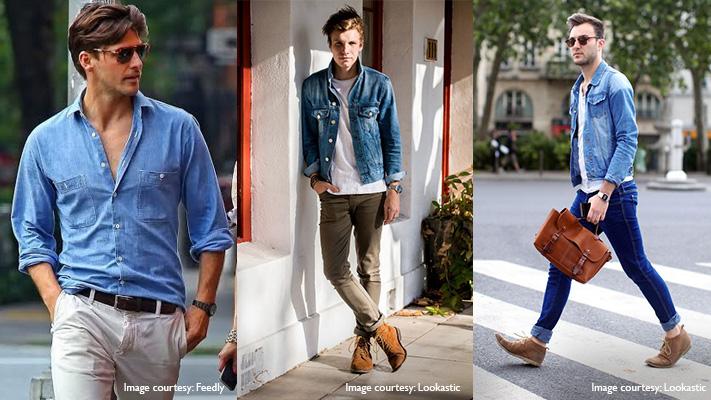 shirt blazer combination with denim