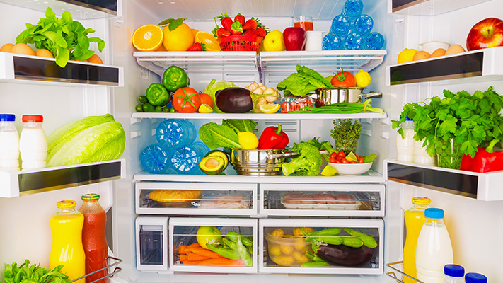 smart stocking food in refrigerator healthy eating