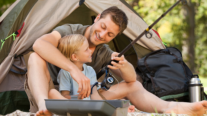 spend quality time with your father son with camping