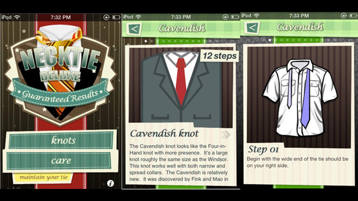 Style apps on ios app store Necktie Deluxe