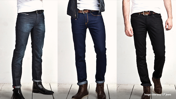 stylish blue dark wash jeans