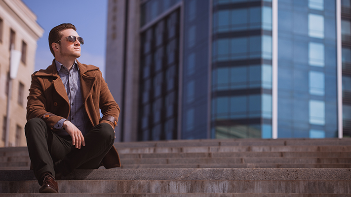stylish brown trench coats for men