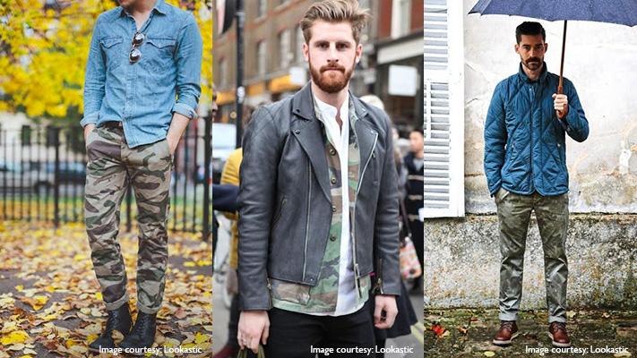 stylish camouflage print clothing