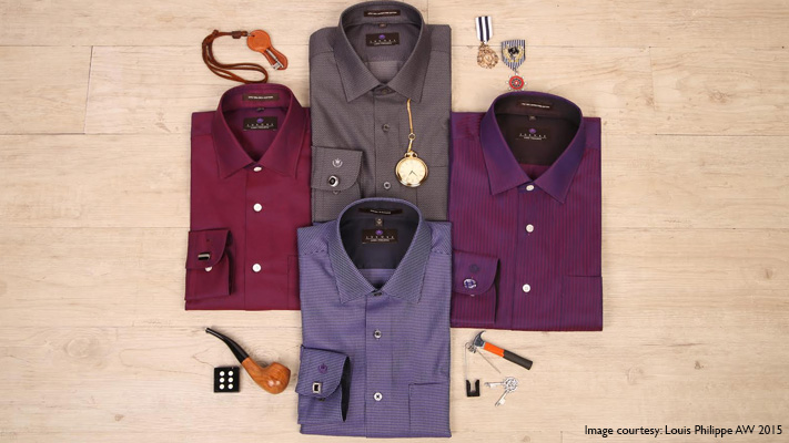 stylish colourful sheen fabric for men