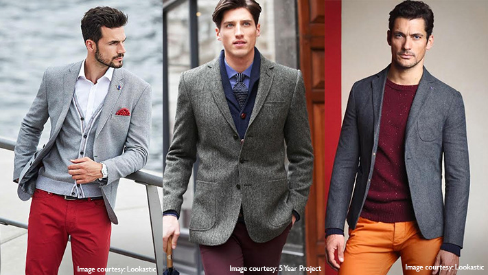 stylish grey jacket pairings with chinos