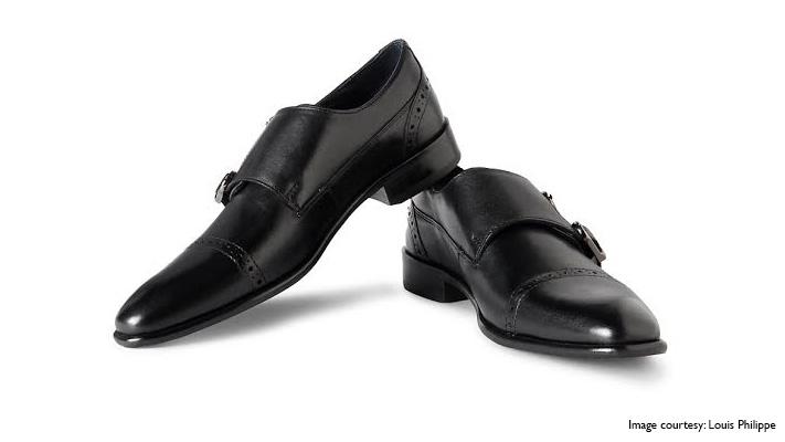 stylish monk strap leather shoes