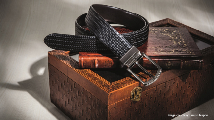 stylish patterned belt for perfect casual look