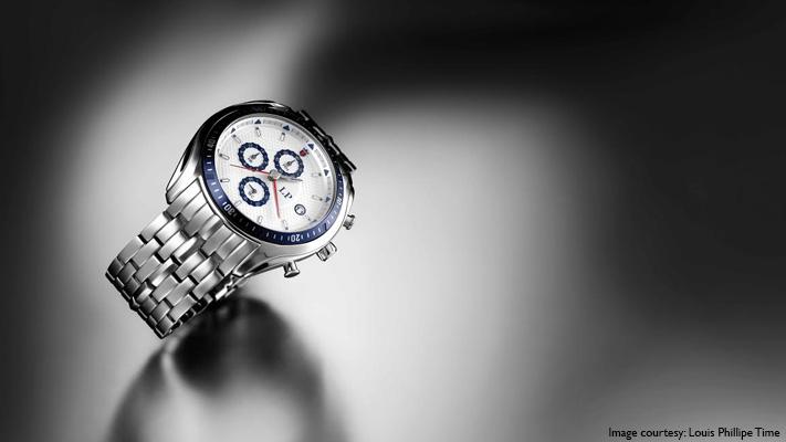 stylish silver wristwatch