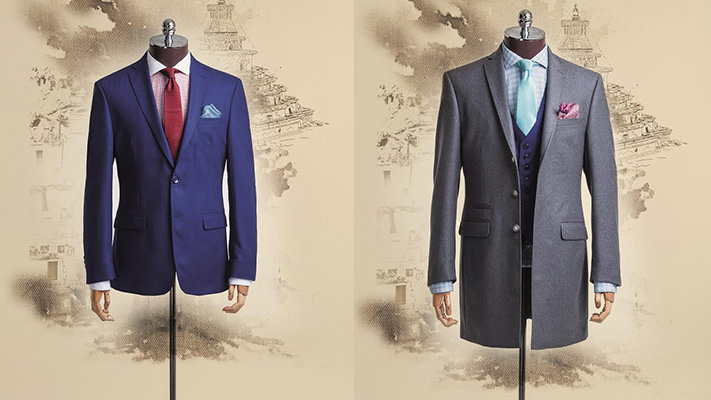 stylish suit for portly man