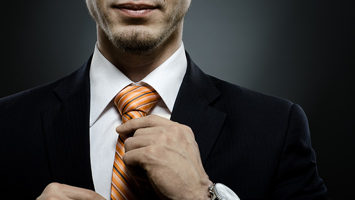 stylish suit orange tie halloween outfit