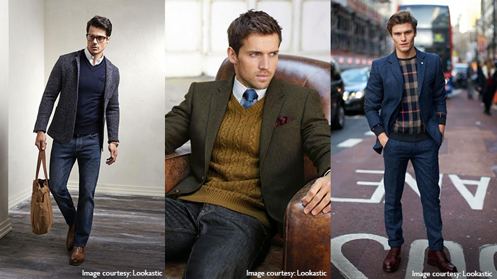 sweater blazer combo preppy look