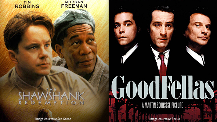 the shawshank redemption and goodfellas classic movies of the 90s