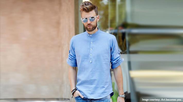 trendy looking mandarin collar shirt